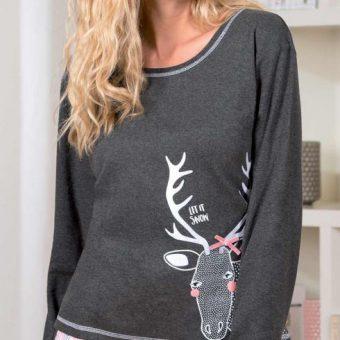 pyjama-femme-caribou-anthracite-ecru-zoom-2
